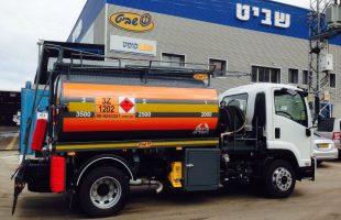דלק לבן: מיכלית אחודה סולר/נפט עד 10000 ליטר