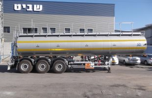 Supported Trailer for Transporting Corrosive Substances
